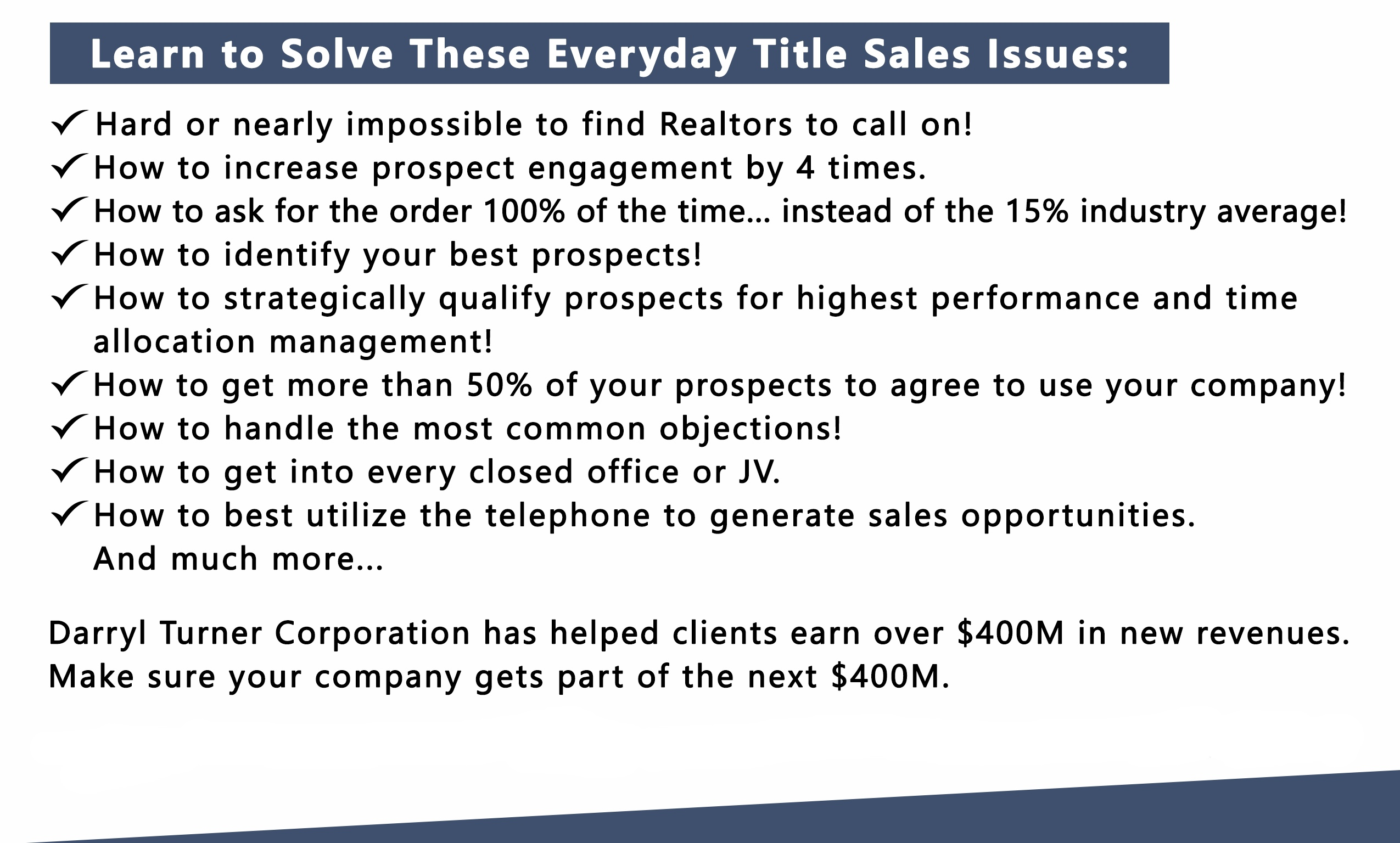 Title Sales Mastery