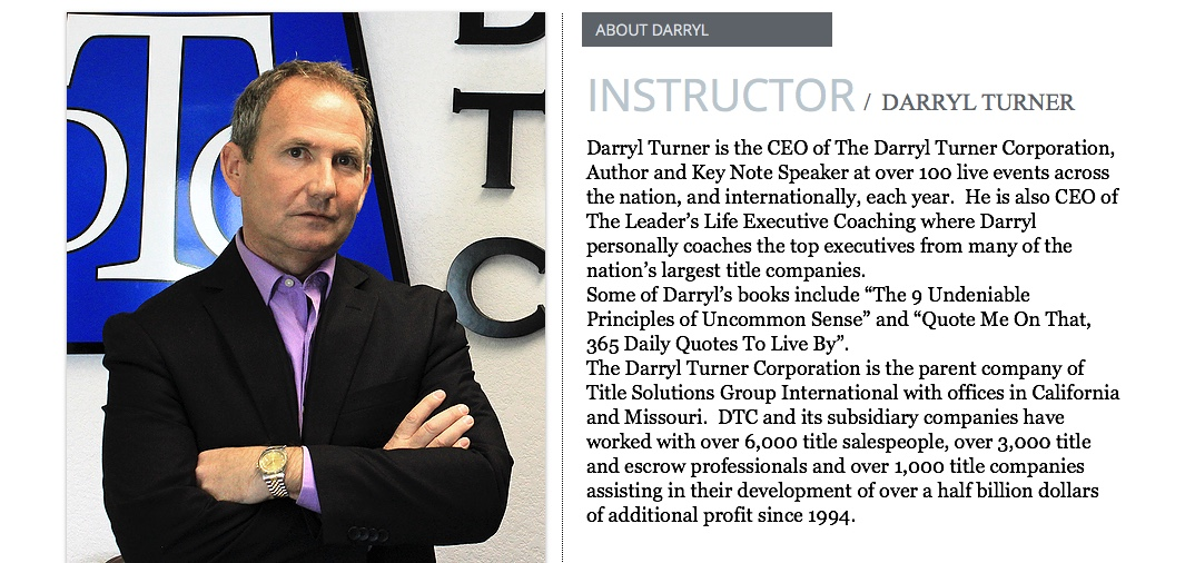 about darryl turner - updated bio
